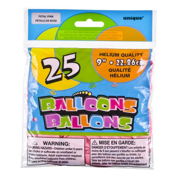 "Balloon, Petal Pink, 9"" - 1 Pkg"