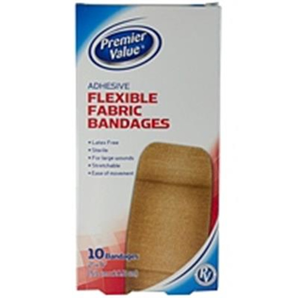 """Premier Value Flex Fabric Bandage 2""""X4"""" - 10ct"""