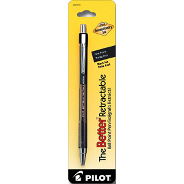 Better Retractable Ball Point Pen, Black, Fine - 1 Pkg