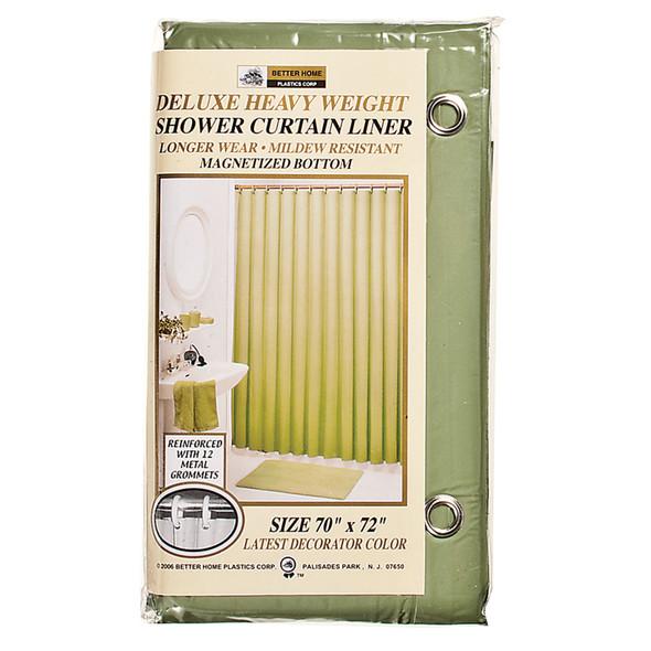 """Deluxe Vinyl Shower Curtain Peridot, Peridot, 70""""X72"""" - 1 Pkg"""