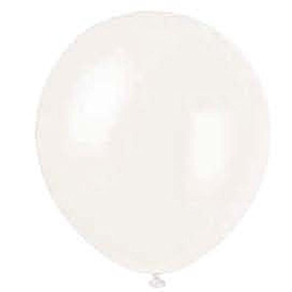 "Metallic/Pearlized Balloons, Pearlized White, 12"" - 8 ct"