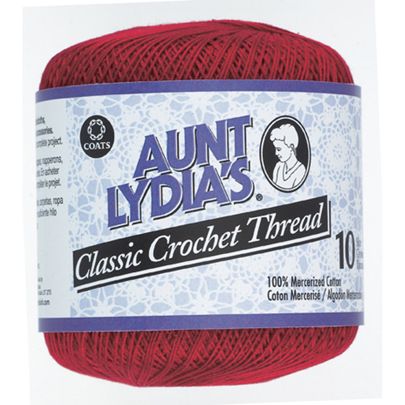 Aunt Lydia's Classic Crochet Thread, Victory Red, 350 Yds. - 3 Pkgs