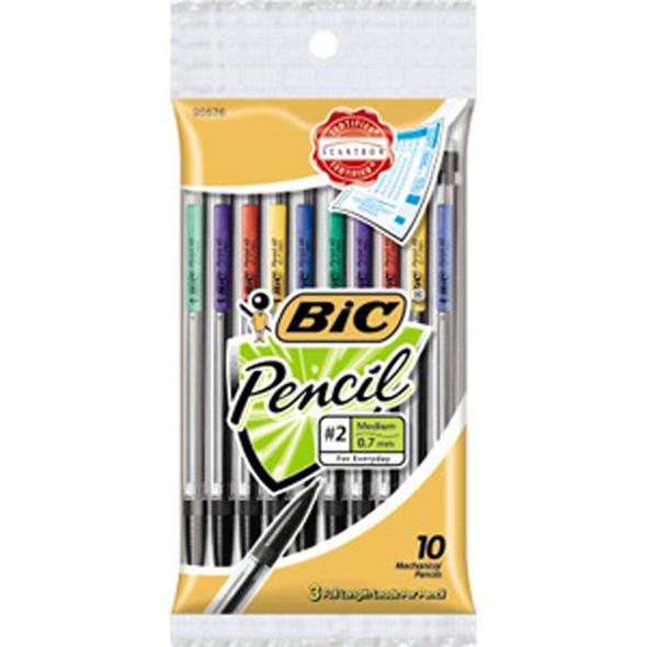 Mechanical Pencil, Black, .7Mm 10Pk. - 1 Pkg