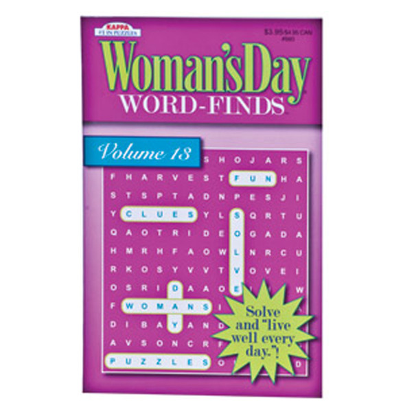Woman's Day Word Find Puzzles, 128 Page - 1 Pkg