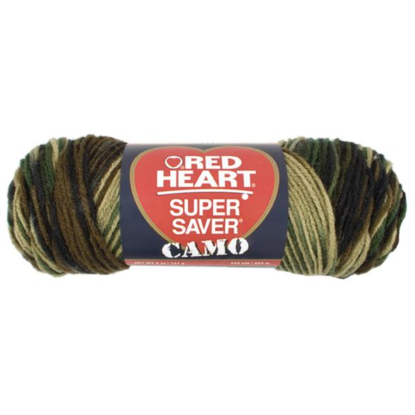 E300 Super Saver Yarn, Camo, 5 oz - 3 Packs