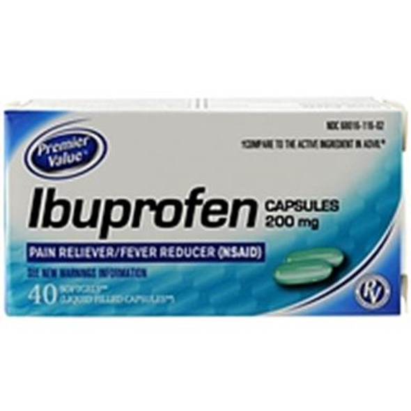 Premier Value Ibuprofen Liquid Gels - 40ct