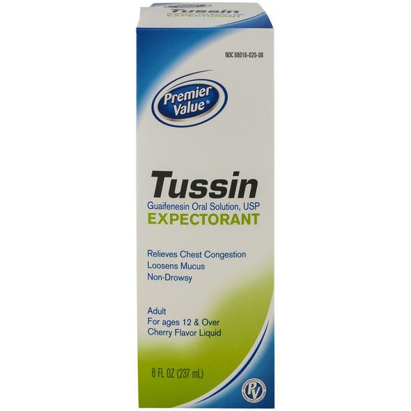Premier Value Tussin Expectorant - 8oz
