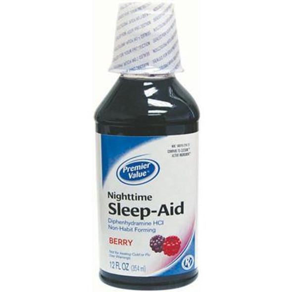 Premier Value Nighttime Sleep-Aid Berry Liquid - 12 oz