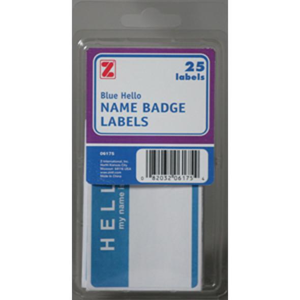 "Hello Badge Labels, 25 ct. 2X3"" - 1 Pkg"