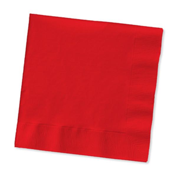 Solid Color Beverage Napkin, Classic Red,  50 Ct. - 1 Pkg