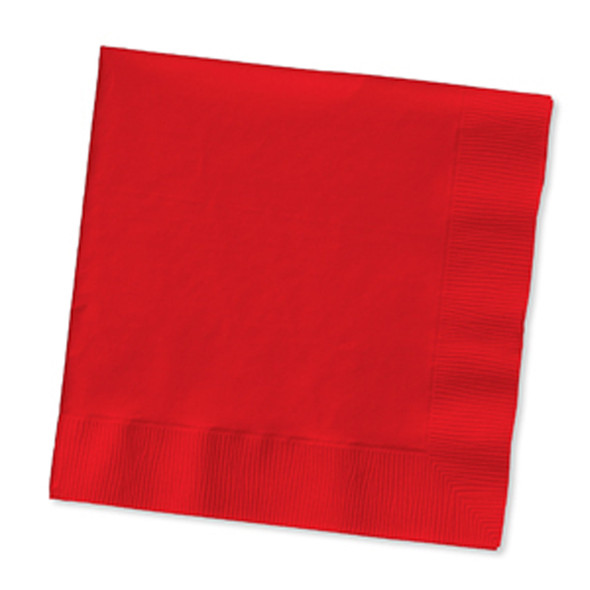 Solid Color Beverage Napkin, Classic Red,  50 Ct. - 1 Pkg