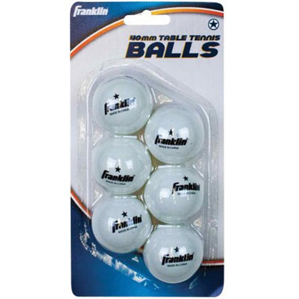 Table Tennis Balls 6Pk, White, 6Pk - 1 Pkg