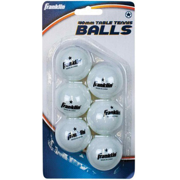 Table Tennis Balls 6Pk, White, 6Pk - 1 Pkg