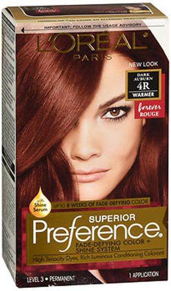 L'Oreal Superior Preference - 4R Dark Auburn (Warmer)