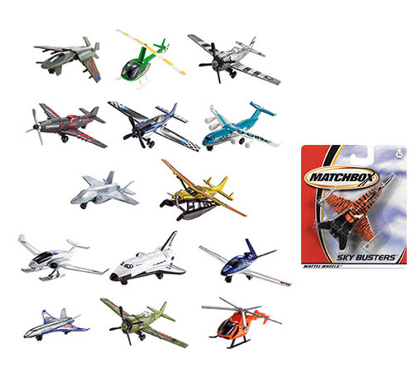 Matchbox Skybusters Planes/Helicopter Assortment