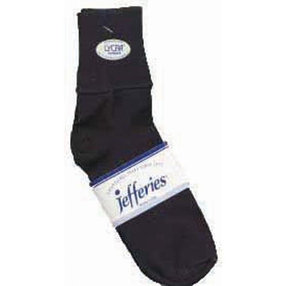 Ladies Cotton Cuff Anklet Sock, Black - 1 Pair