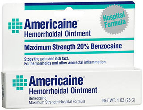 Americaine Maximum Strength Hemorrhoid Ointment - 1 oz