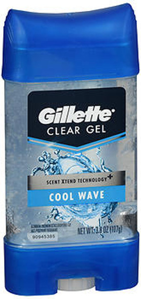 Gillette Anti-Perspirant Deodorant Clear Gel Cool Wave - 3.8 oz