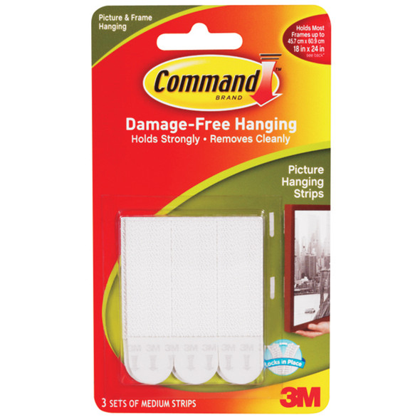 Command Medium Adhesive Fasteners, White - 1 Pkg