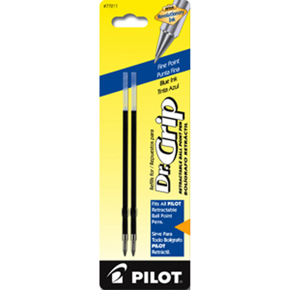 Retractable Ball Point Pen Refill, Blue, Fine - 1 Pkg