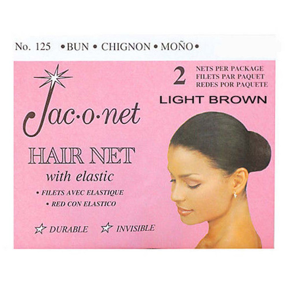 Jac-O-Net Hair Net, Light Brown - 3 ct