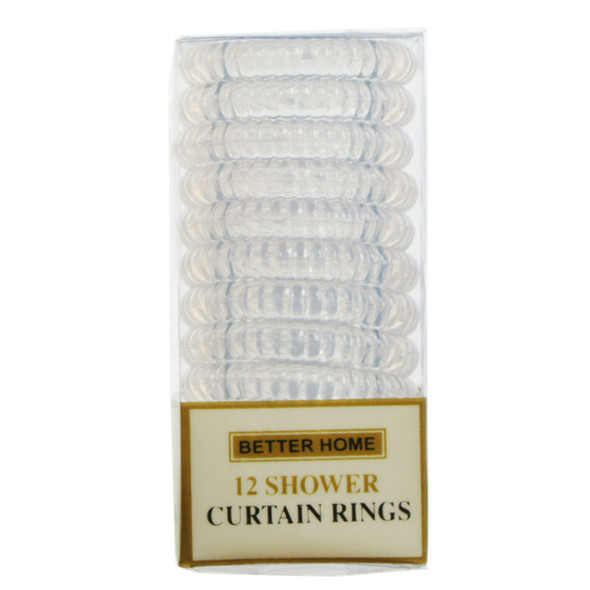 Shower Rings Clear, Clear, 12 Ct - 1 Set