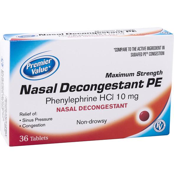 Premier Value Nasal Decon. 10Mg (Non Pseudo) - 36ct