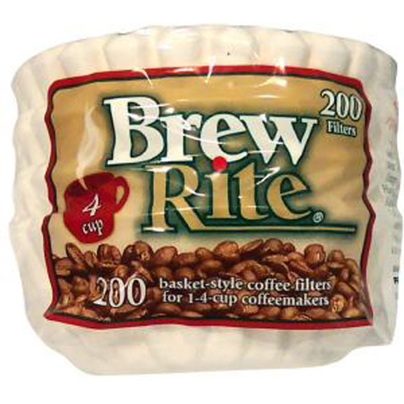 Brew Rite #7 Basket Coffee Filters, 200 Ct