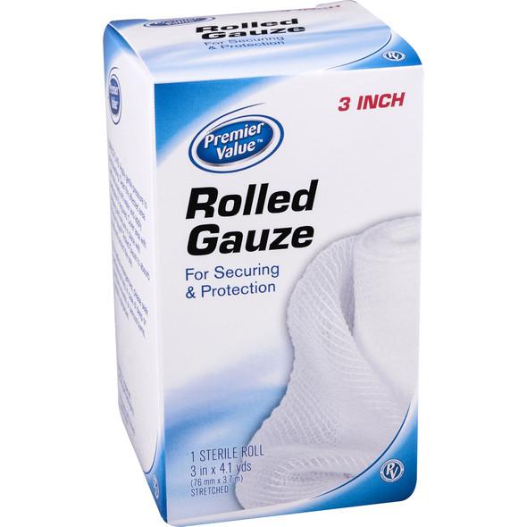 """Premier Value Gauze Bandage 3"""" - 1ct"""