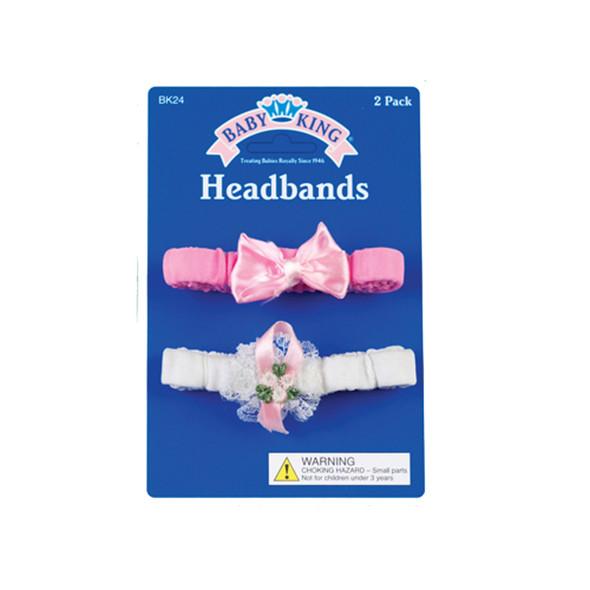 Girls Headband, Asst, 2 Pack - 1 Pkg