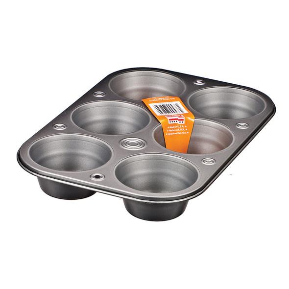 Baker Eze Texas Muffin Pan, 6 Cup - 1 Pkg