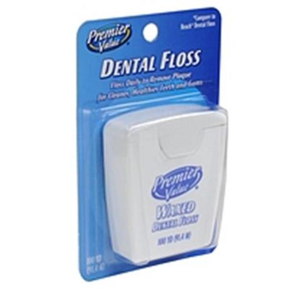 Premier Value Dental Floss Wax - 100 yd.