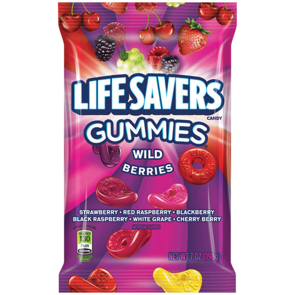 Gummy Life Savers, Wild Berry, 7 oz - 1 Bag