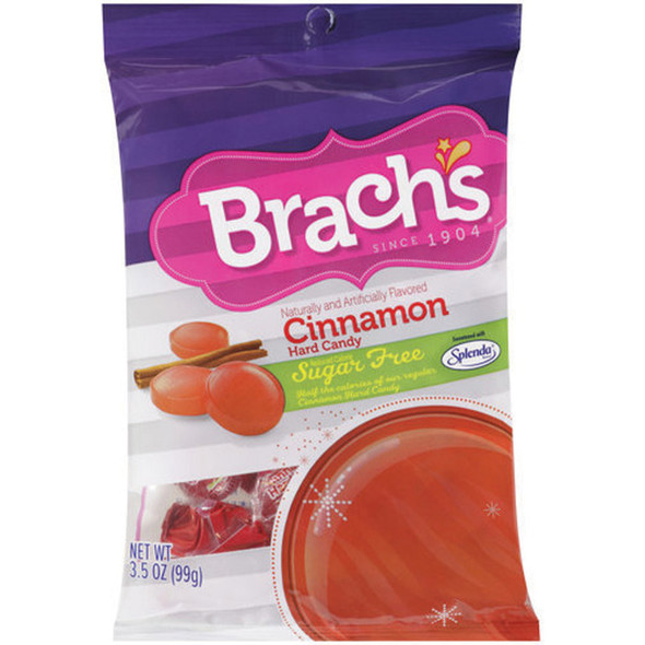 Brach's Sugar Free Hard Candy, Cinnamon, 3.5 oz Bag