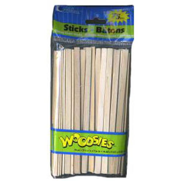 "Skinny Sticks, Wood, Natural, 75 Ct, 5 3/4"" - 1 Pkg"