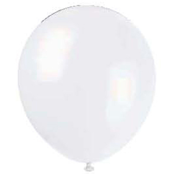 "Balloon, White, 12"" - 1 Pkg"