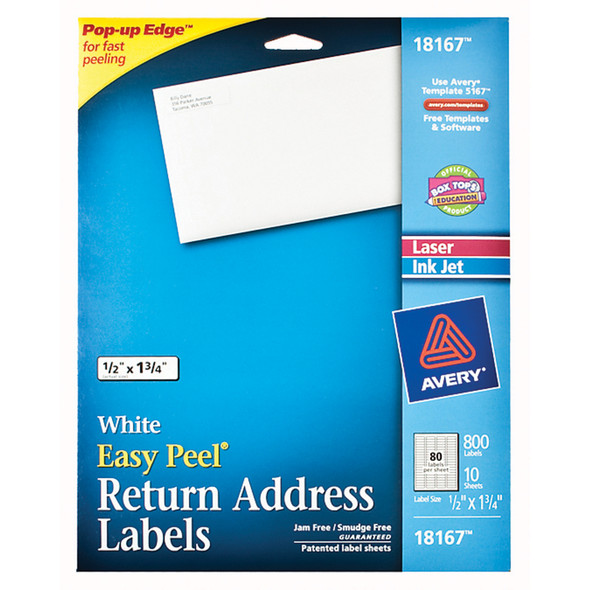 "Return Address Labels, 800Ct., 8 1/2X11"" - 1 Pkg"