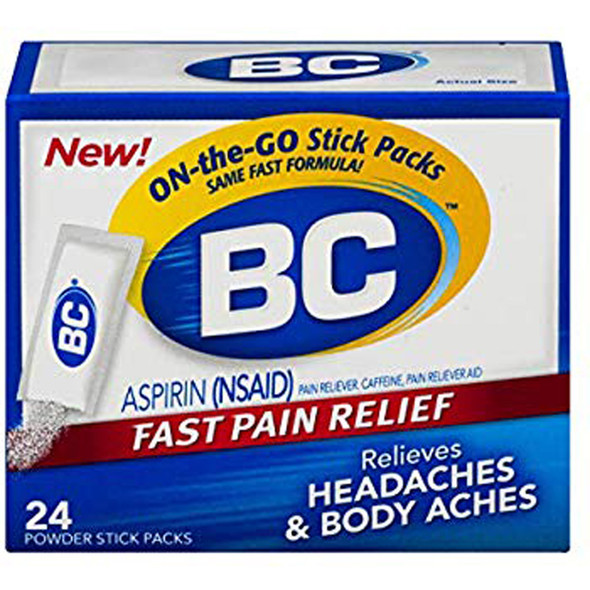 BC Headaches Formula Pain Reliever Powders - 24ct
