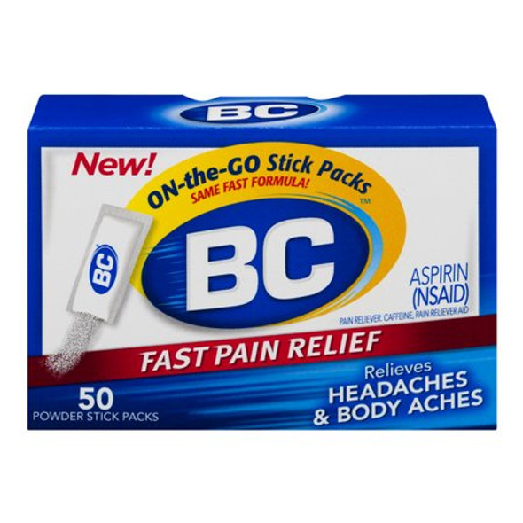 BC Headaches Formula Pain Reliever Powders - 50 ct