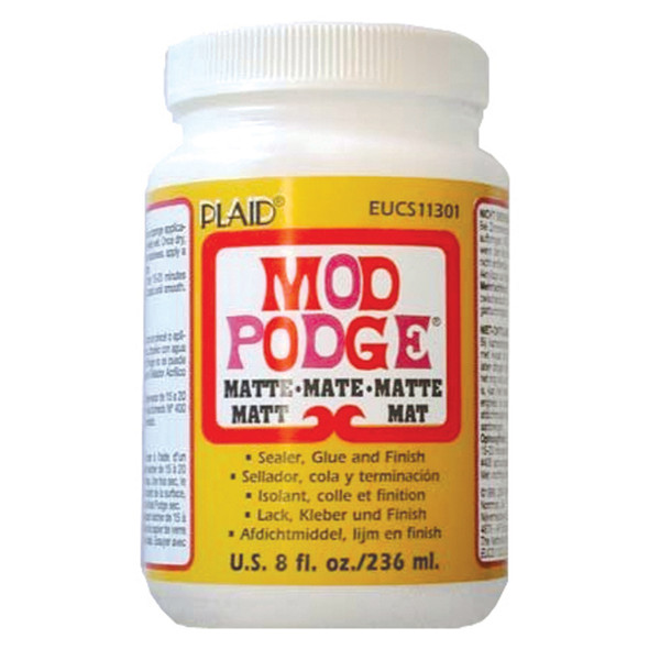 Mod Podge Glue, Matte, 8 oz - 1 Pkg