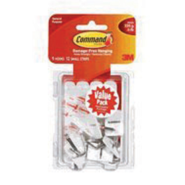Command Adhesive Small Wire Hook, Clear, Small - 1 Pkg