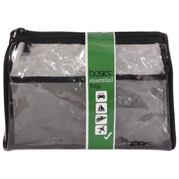 Basics Pvc Rectangle Clutch, Black/Clear - 1 Bag