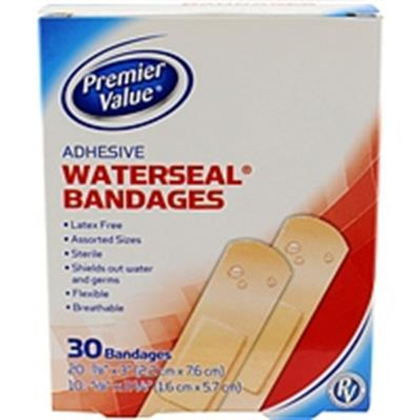 Premier Value Waterseal Bandage Asst Size - 30ct