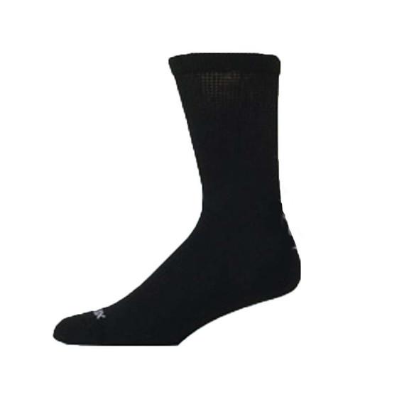 Diabetic Bamboo Crew Sock, Black - 2 pkgs