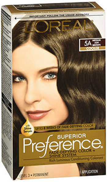L'Oreal Superior Preference - 5A Medium Ash Brown (Cooler)
