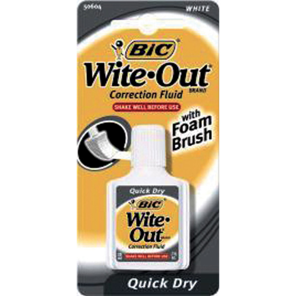 Wite-Out Correction Fluid, White, .7oz - 1 Pkg