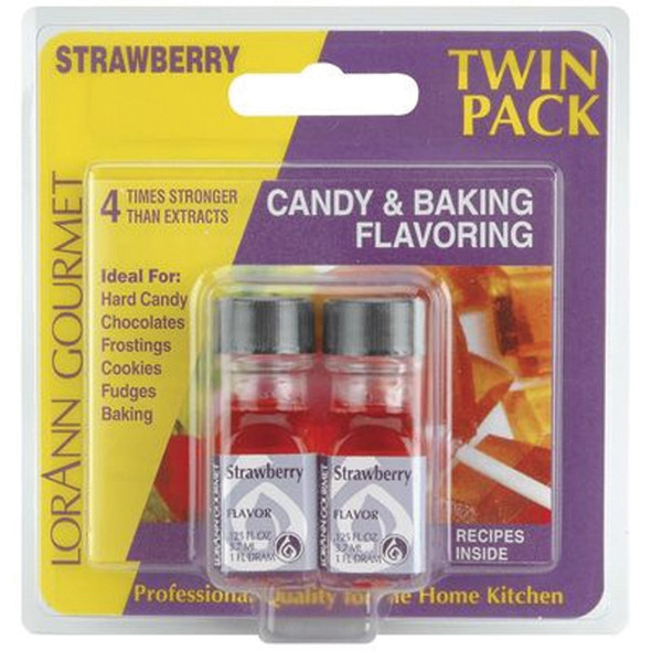 Twin Pack Flavoring Oils, Candy/Baking, Strawberry, 2X.125 - 1 Pkg