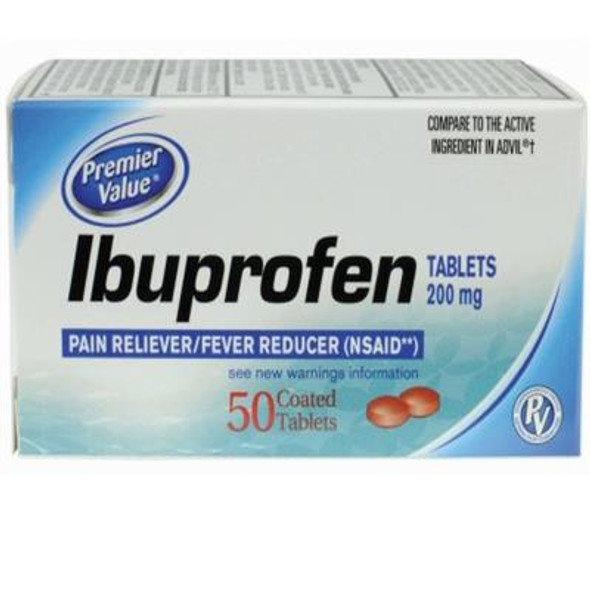 Premier Value Ibuprofen Tablets - 50ct