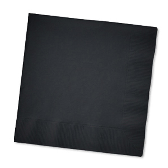 Solid Color Beverage Napkin, Black, 50 Ct - 1 Pkg
