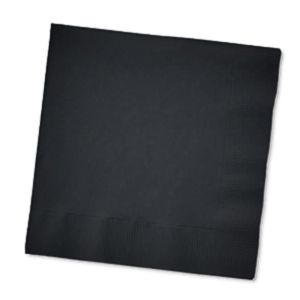 Solid Color Beverage Napkin, Black, 50 Ct - 1 Pkg